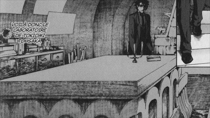 Kiritsugu visite le laboratoire de Tohsaka car il pressent que quelque chose cloche
