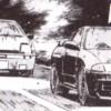 Nagato et sa GT-R affronte Takumi - Initial D