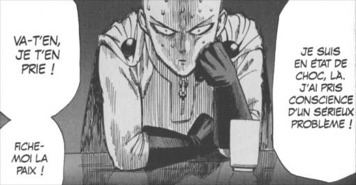 Saitama en colère car on ne le reconnait pas