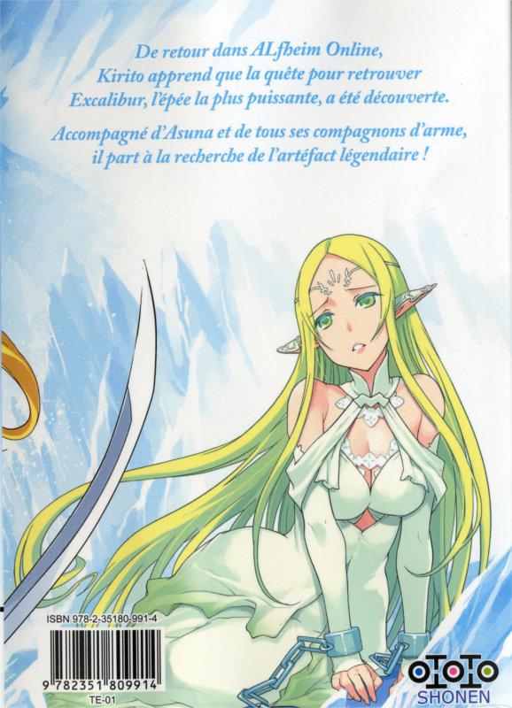 Quatrième de couverture du manga Sword Art Online : Calibur