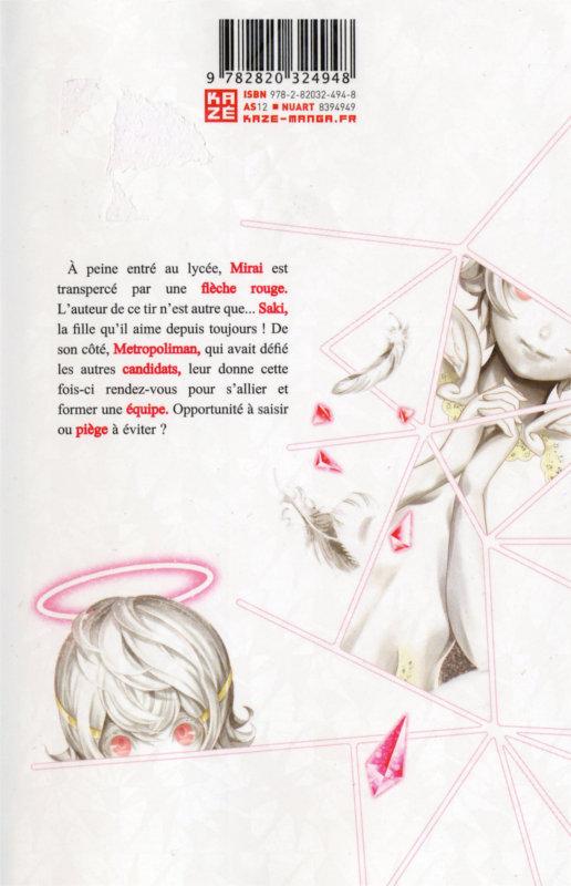Quatrième de couverture du manga Platinum End Volume 2