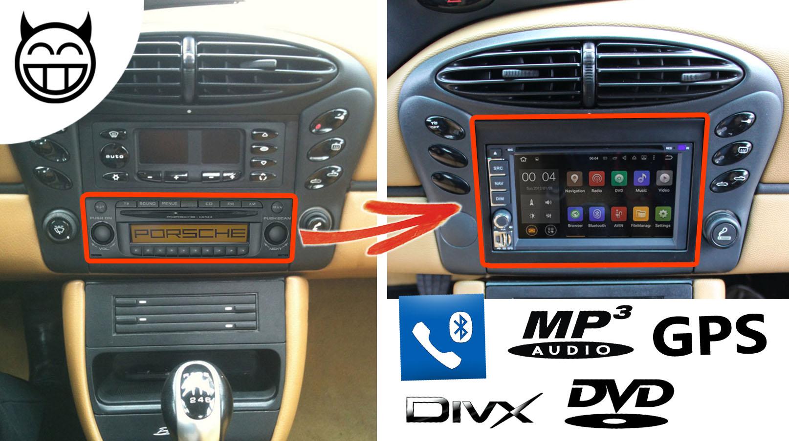 Boxster autoradio Android MP3 GPS