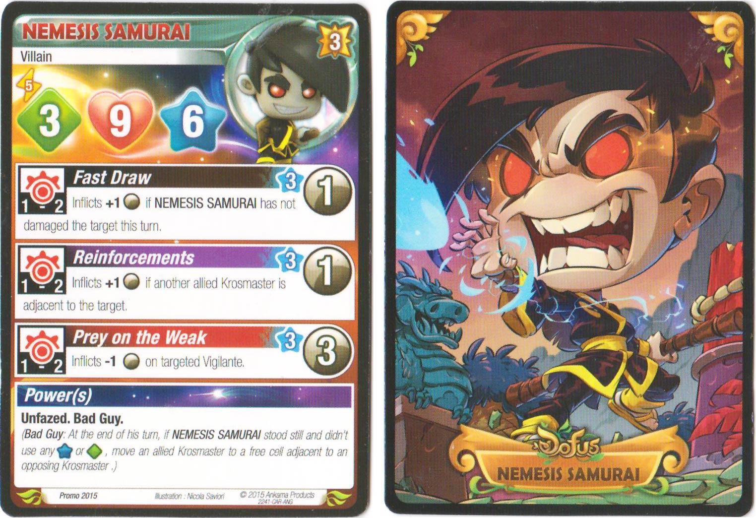 Nemesis Samourai krosmaster carte