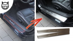 Boxster S baguette de seuil aluminium
