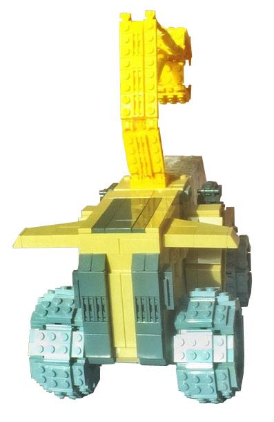 Forcair en Lego vue de dos
