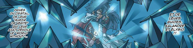 Elysio et Kalandre prisonnier du Cristal