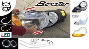 décoller et enlever le verre du phare Boxster 986