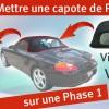 Capote vitre en verre - Boxster 986 - démonter