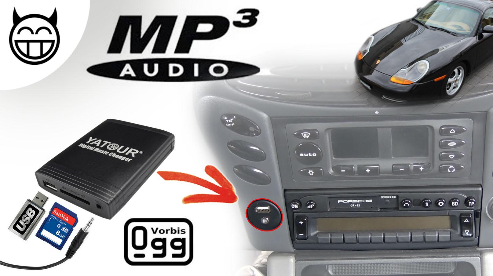 Boxster 986 Boitier MP3 Kit Main libre