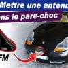 Antenne pare-chocs Porsche 996