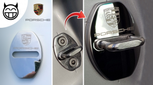 cache serrure Porsche