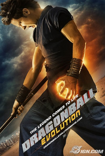 Affiche de Dragonball Evolution (image : IGN)