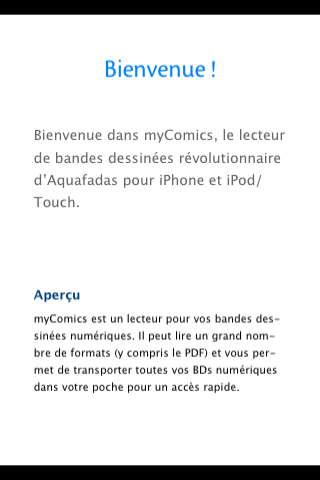 My Comics : Lire ses bandes dessinées sur un iPhone