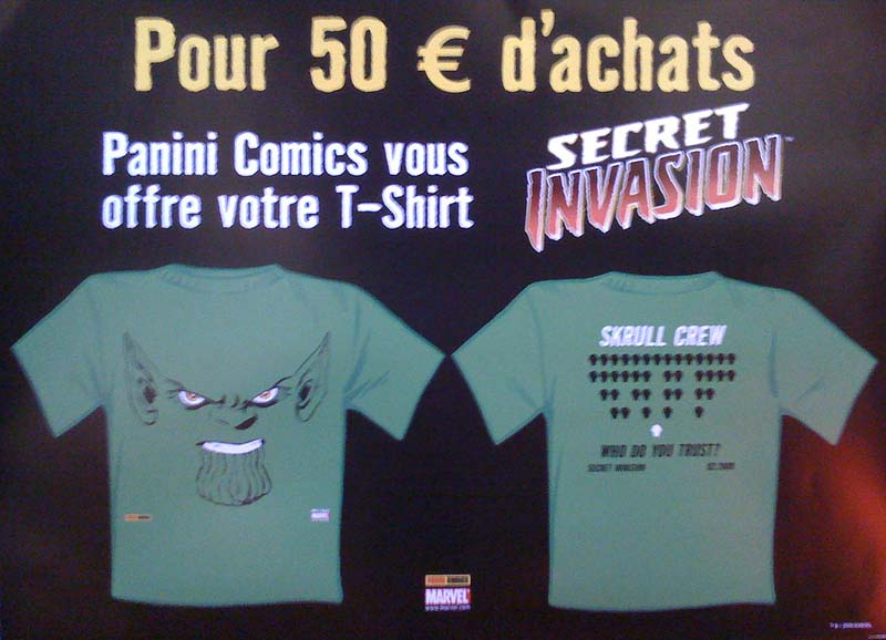 Panini T shirt secret invasion