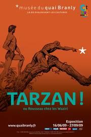 Affiche de l'exposition Tarzan au musée du Quai Branly