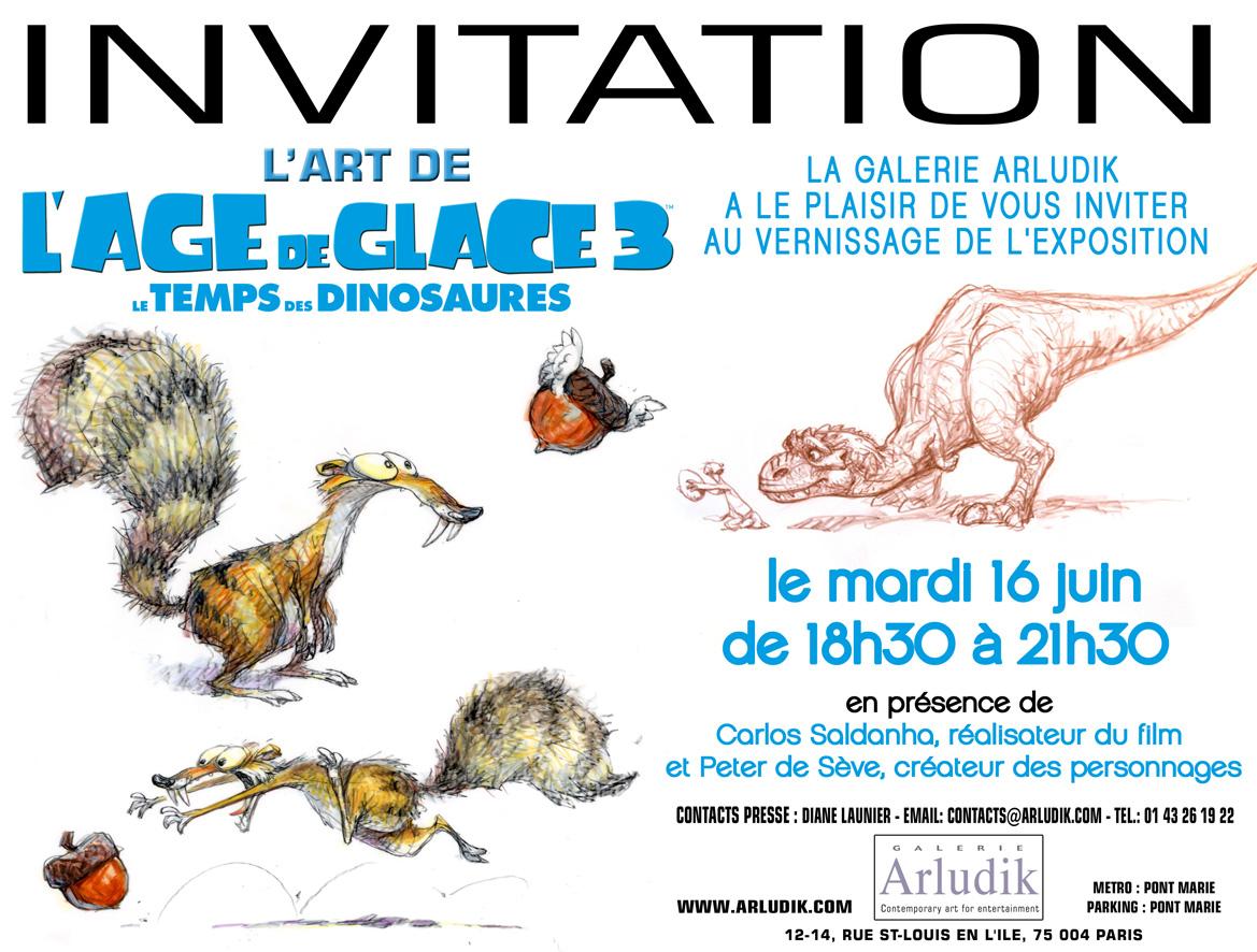 Carton invitation Age de glace