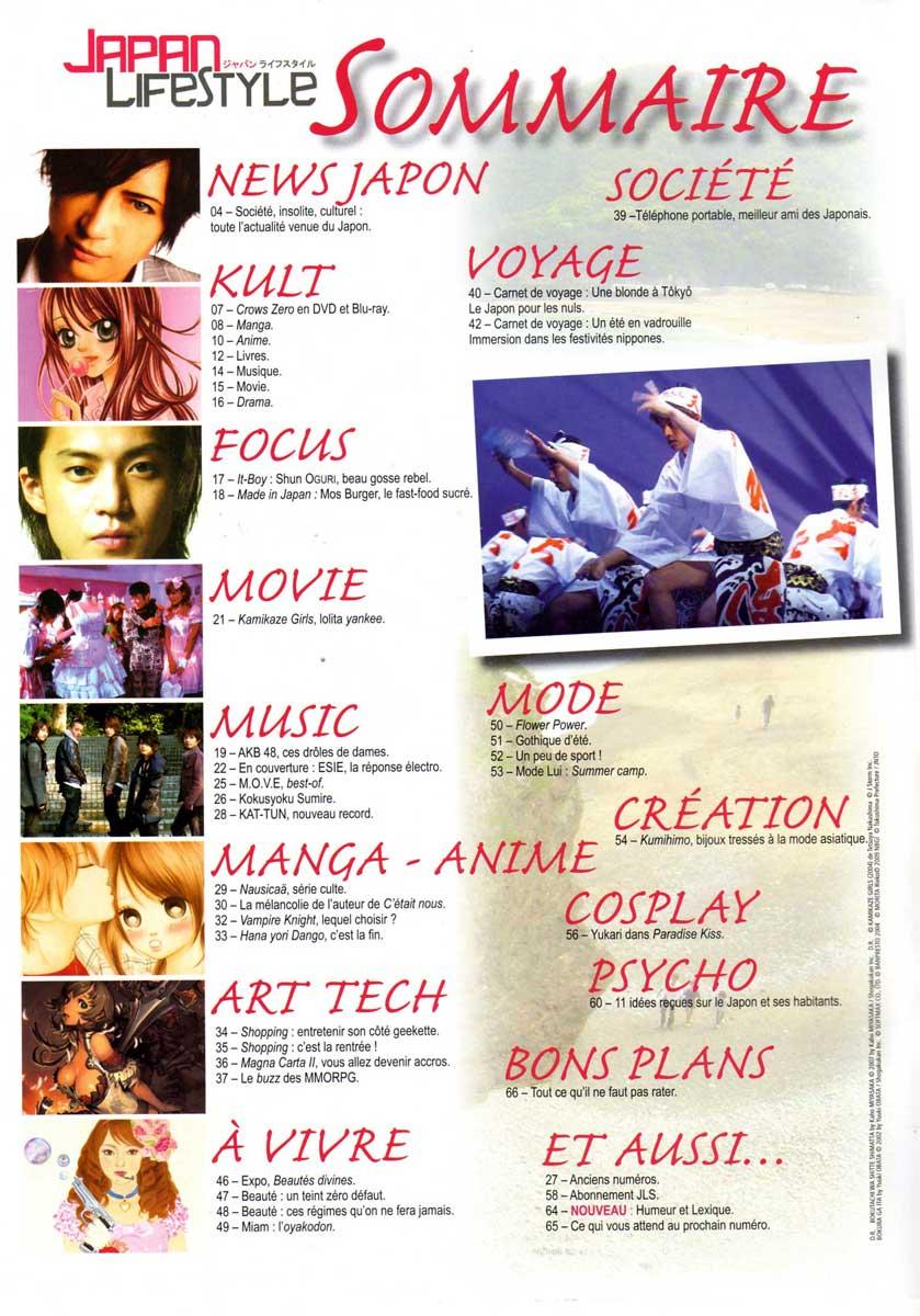 Sommaire de Japan Lifestyle n°5