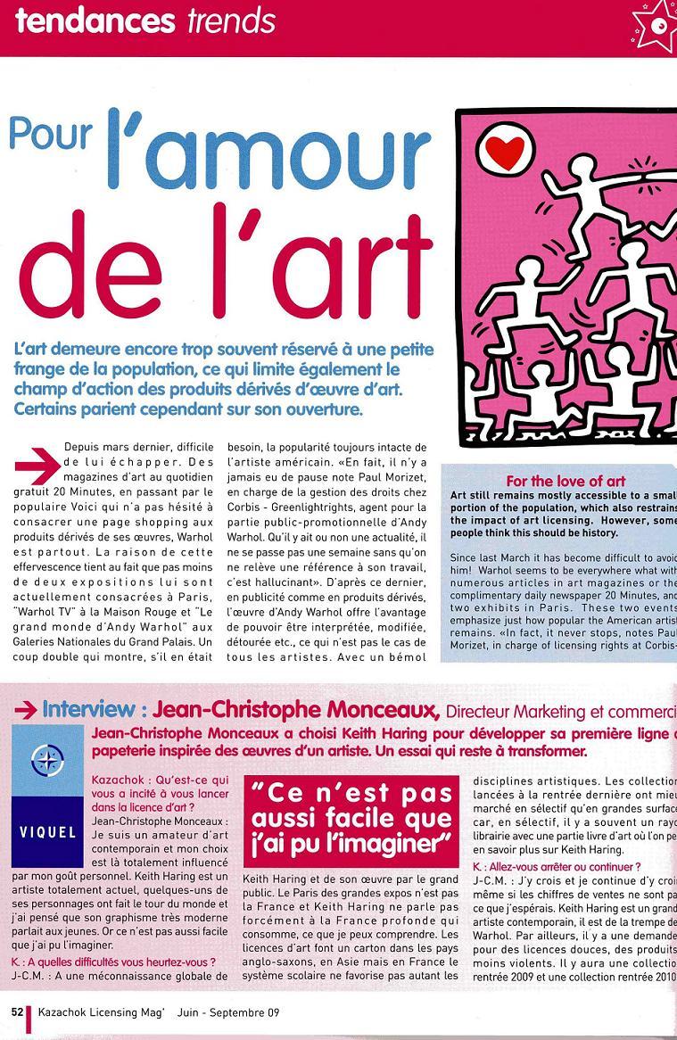 Kazachok une page du magasine