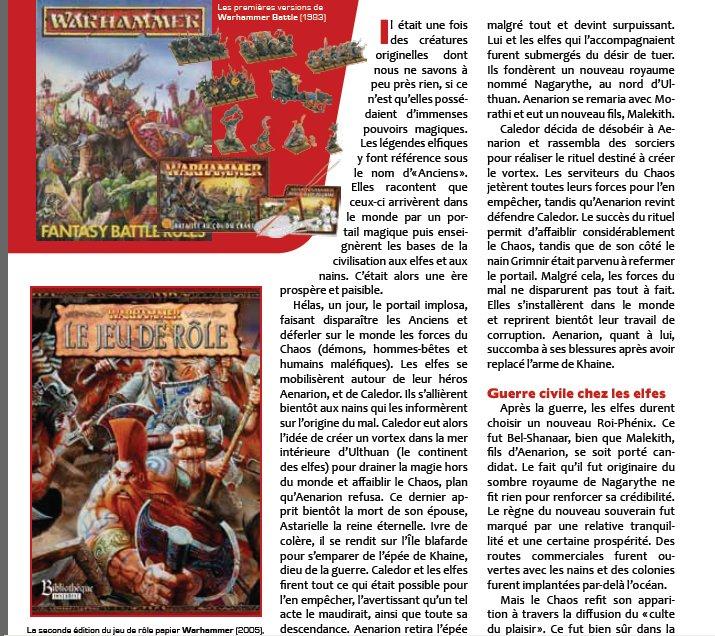 Couverture du magazine IG 3 présentation restropesctive sur Warhammer