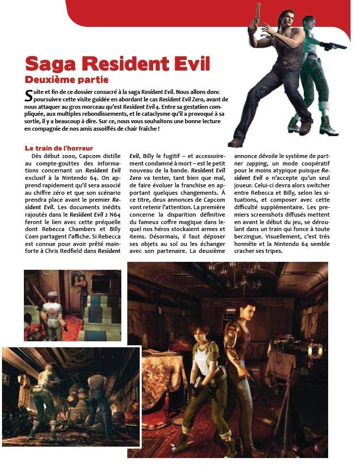 Couverture du magazine IG 3 présentation restropesctive sur Resident evil