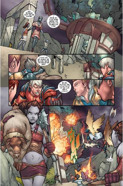 Une page du comics Aion