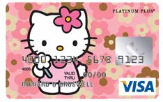 Carte bancaire Hello Kitty