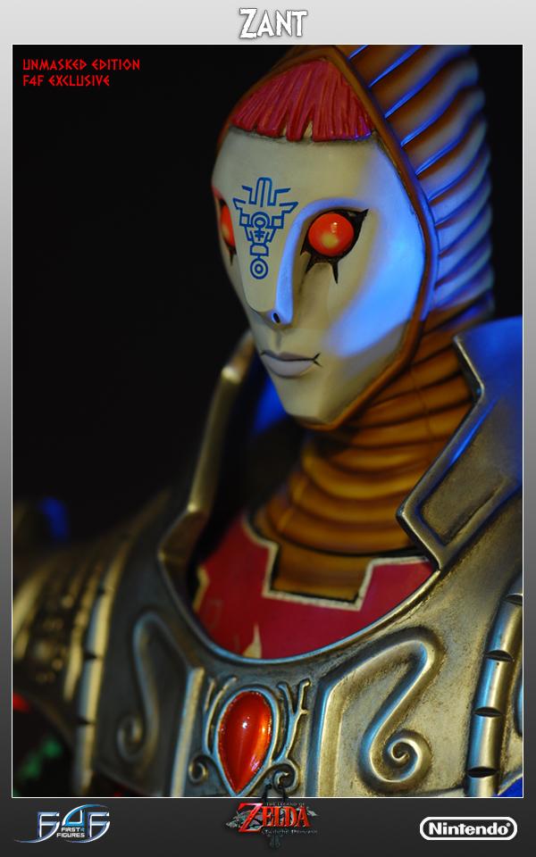 Visage de la version collector de la Figurine Zant de The Legend of Zelda : Twilight Princess en pied
