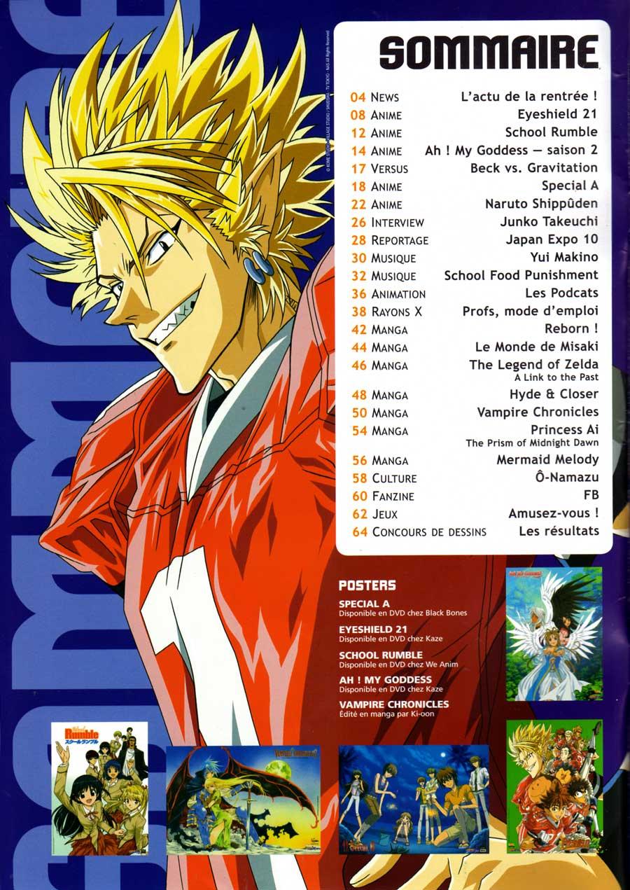 Sommaire de l'Animeland X-Tra N°15