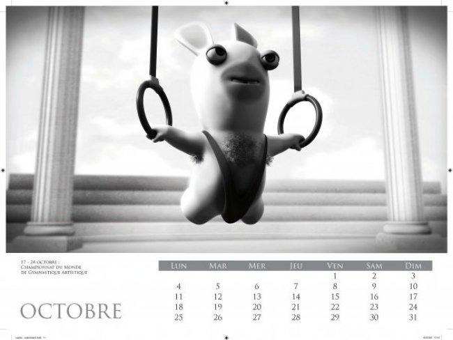 Image du calendrier Lapins crétins