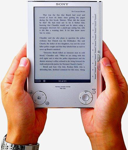 Image d'un sony reader