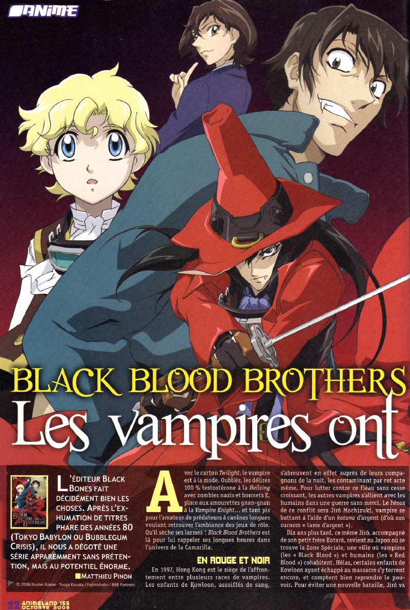 Black Blood Brothers (Animeland 155 - page 22)