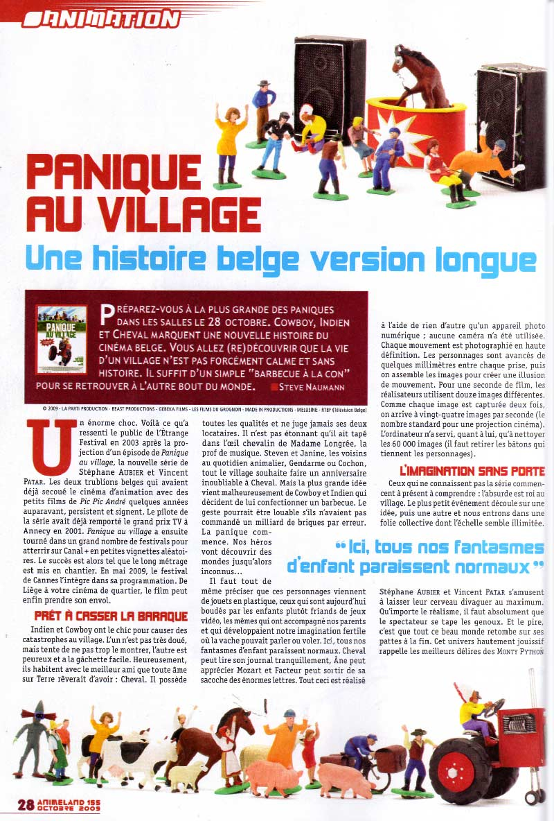 Panique au village (Animeland 155 - page 28)