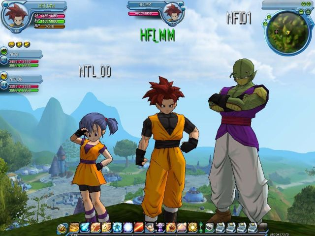 Capture du jeu dragon ball online