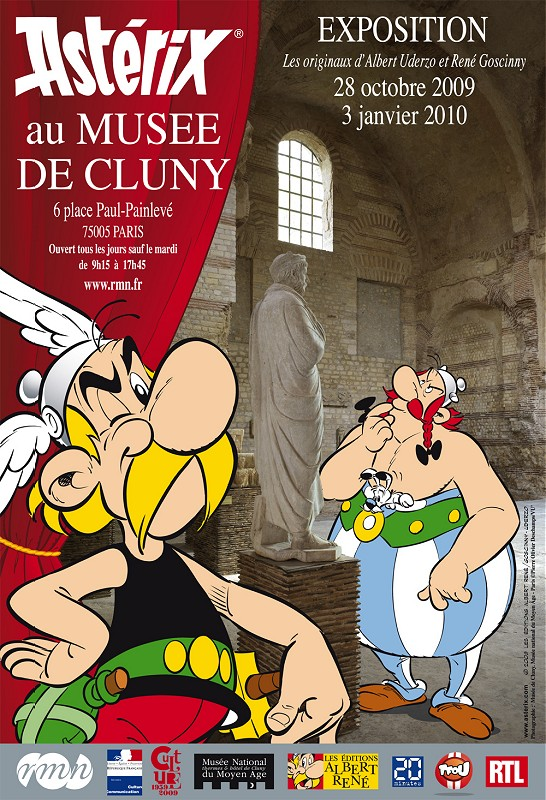 Affiche de l&#039;exposition des 50 ans d&#039;Astrix  Cluny