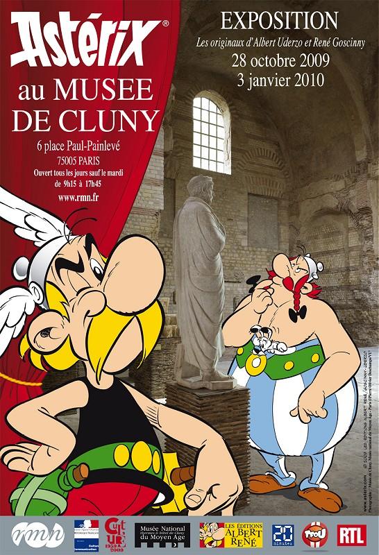 Affiche de l'exposition des 50 ans d'Astérix à Cluny