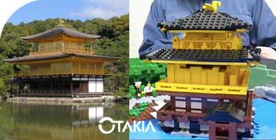 Comparaison du kinkaku-ji Légo et de l'original.