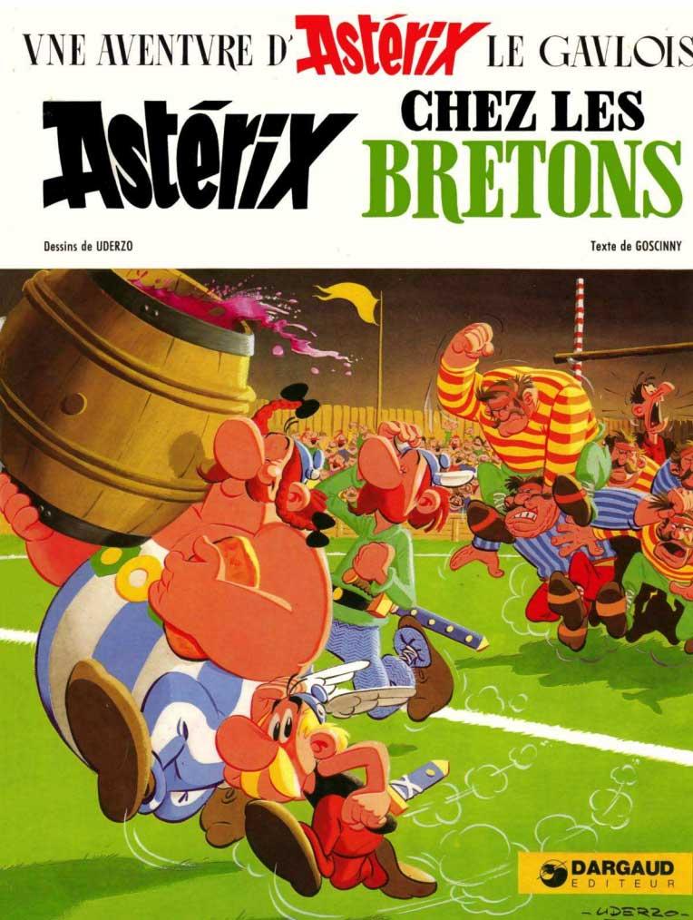 Couverture de la bande dessinée Astérix chez les Bretons