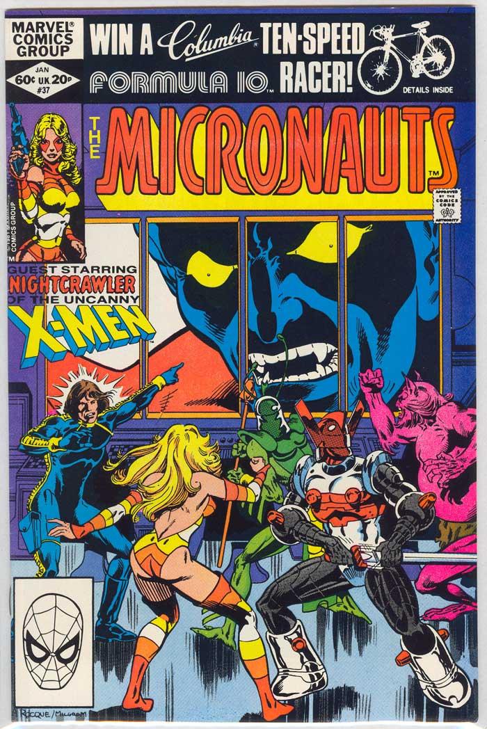Couverture d'une histoire Micronauts de Marvel