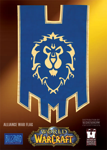 Drapeau World of Warcraft de l'Alliance