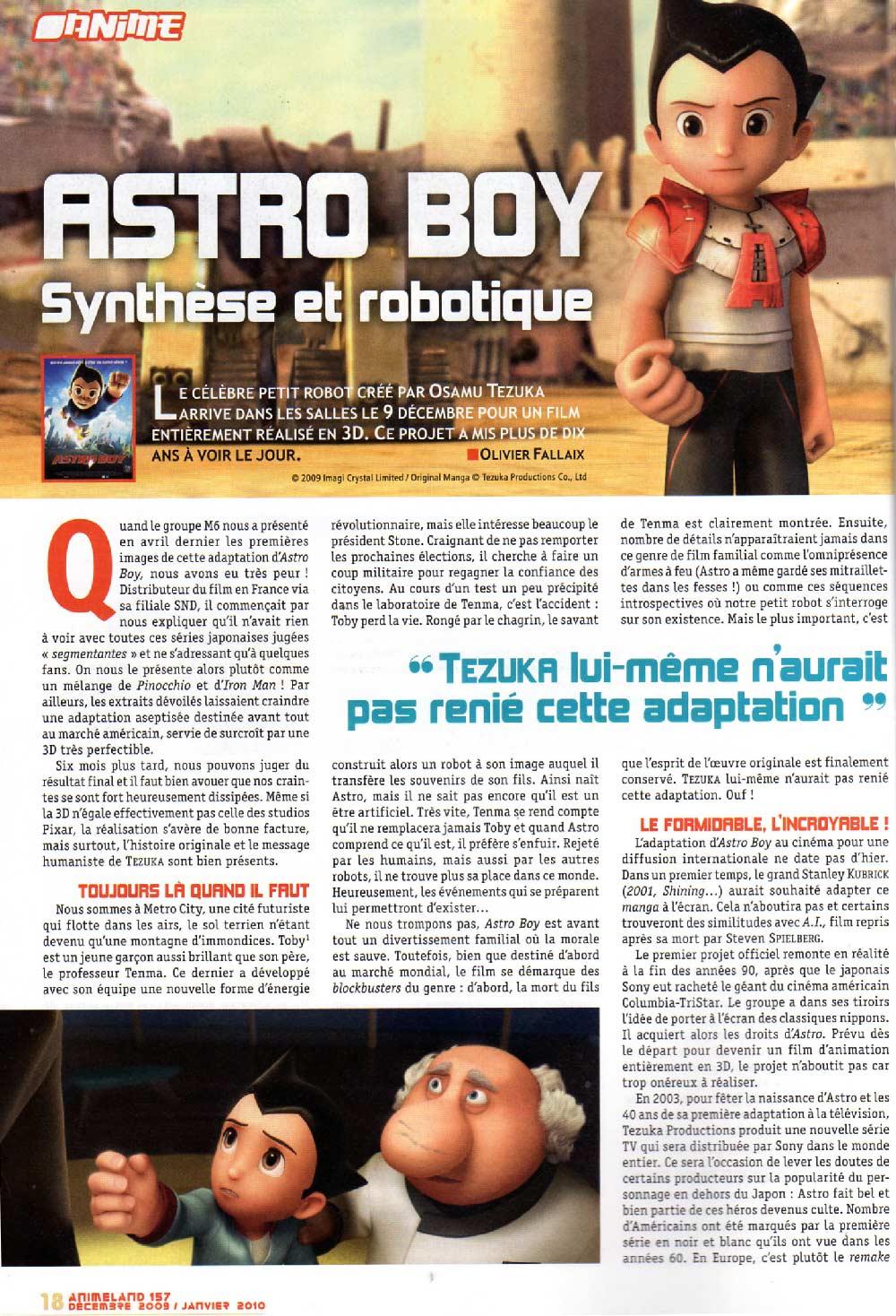 Animeland 157 page 18 Astro Boy