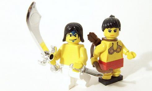 Les héros du film Prince of Persia en Lego