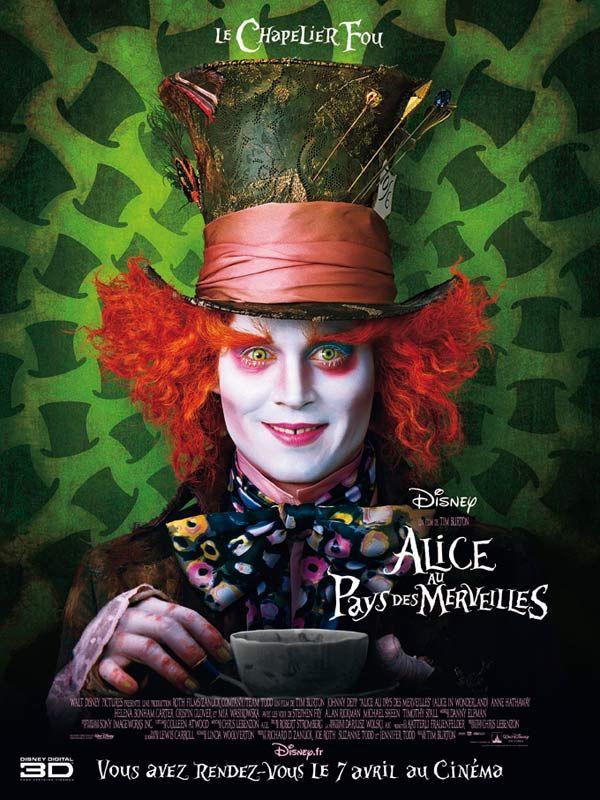 Affiche du film Alice au pays des merveilles de Tim Burton