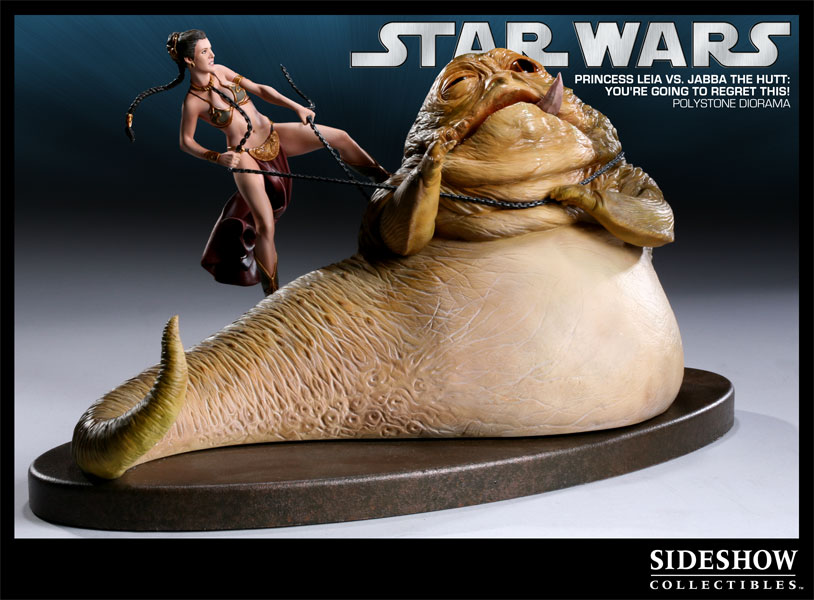 Figurine Sideshow Collectibles Princess leia vs Jabba (La guerre des Etoiles)