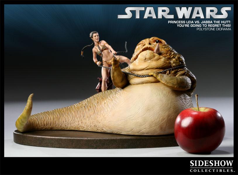 Figurine Sideshow Collectibles Princess leia vs Jabba (La guerre des Etoiles)