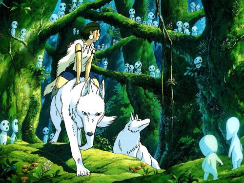 Image du film Princesse Mononoke Hime d'Hayao Miyazaki