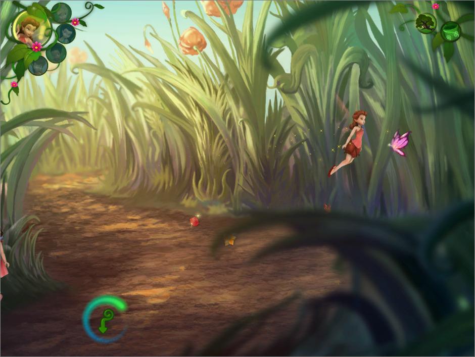 Capture d'écran du jeu vidéo les aventures de la Fée Clochette