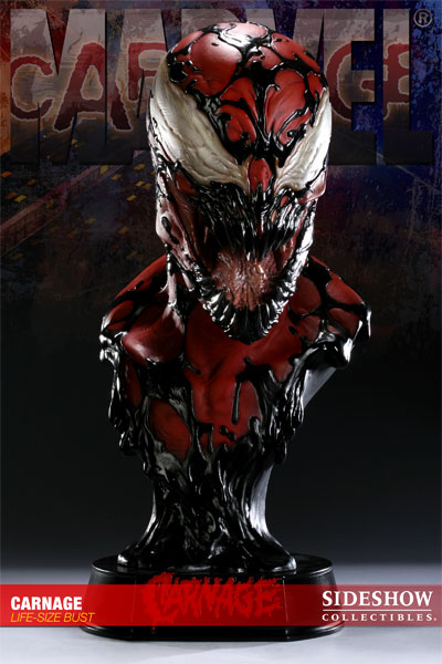 Photo du buste Carnage (Spider man) par Sideshow Collectibles