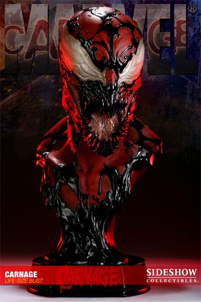 Photo du buste Carnage (Spider man) par Sideshow Collectibles