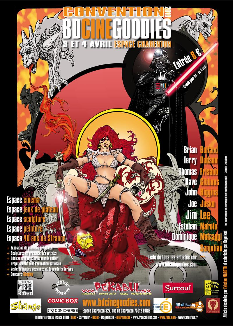 Affiche du salon BD Ciné goodies