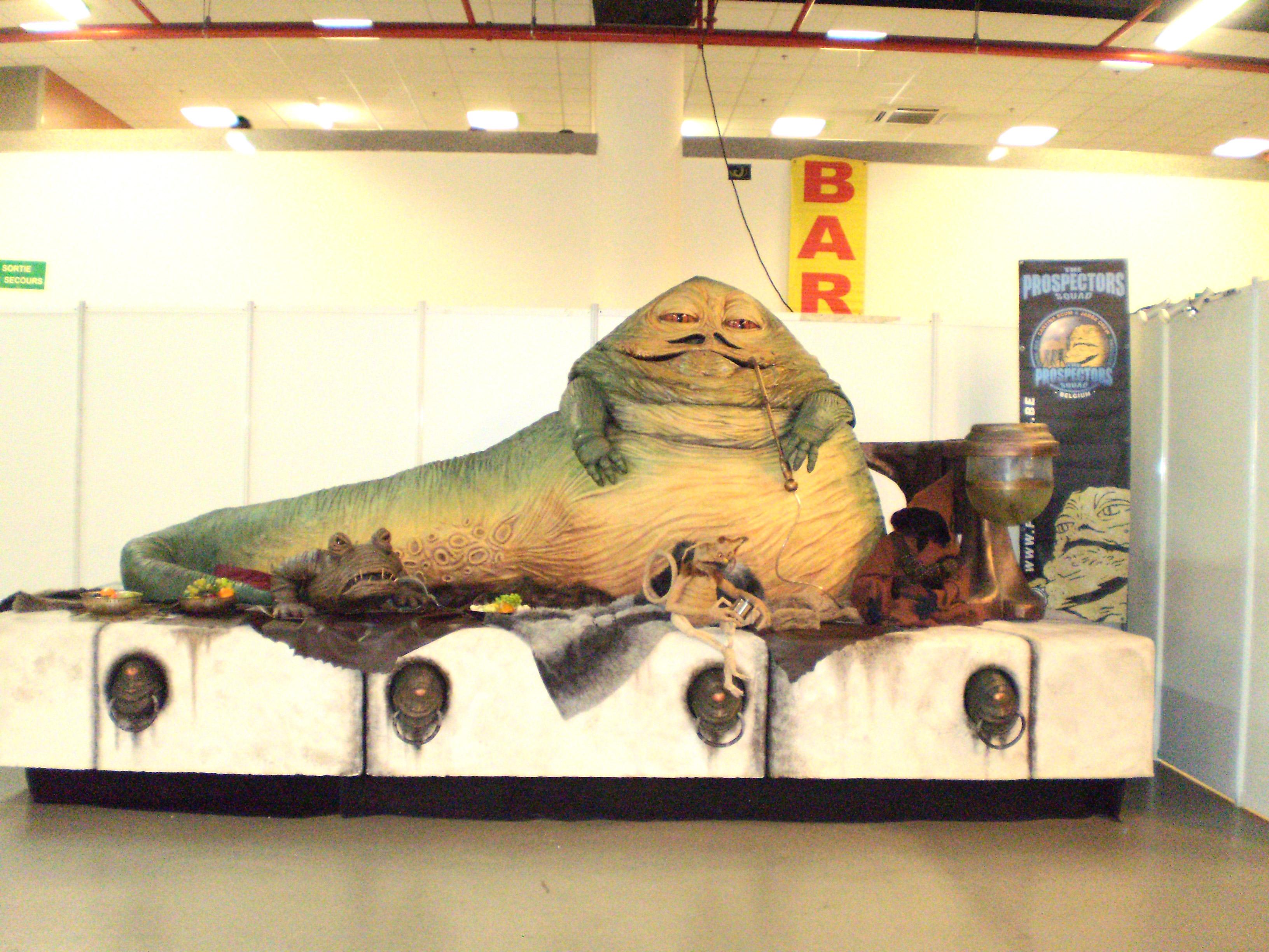 Jabba le Hutt de Star Wars en grandeure originale